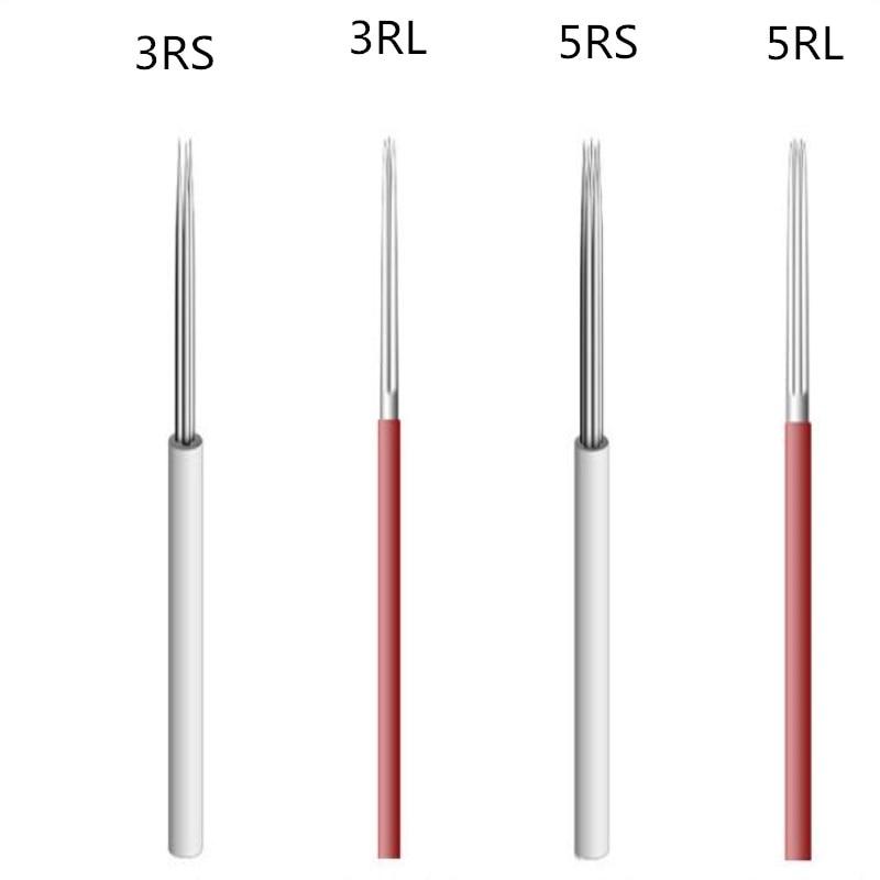 10pcs Lamina Shading Hard RL5 LINER Microblading Tebori Needles Manual Needle For Fog Eyebrow Blade Round Needles