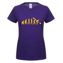Летняя женская футболка Эволюция гитариста футболка музыка Рок гитара женские футболки с коротким рукавом рок-ролл девушка тройники топ OT-436