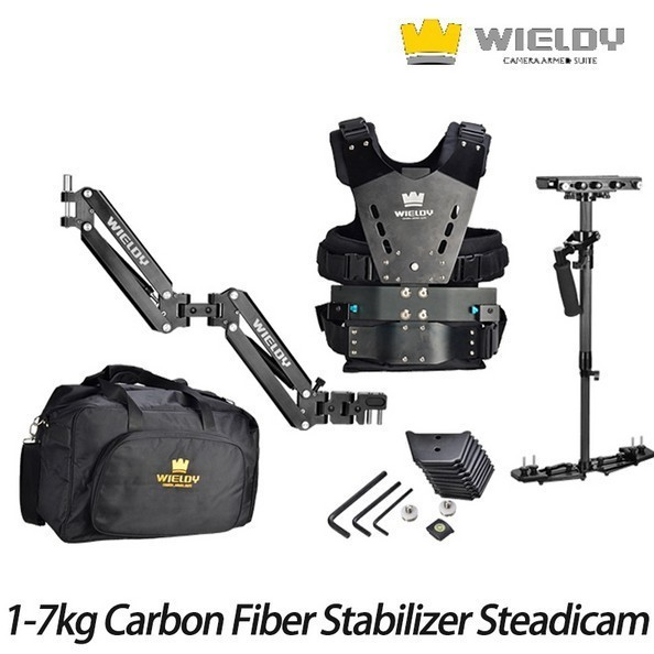 Wieldy 1 7kg Load Carbon Fiber Stabilizer Steadicam Camera Video Steadycam Vest Arm for Canon Nikon DSLR|Stabilizers| |  - title=