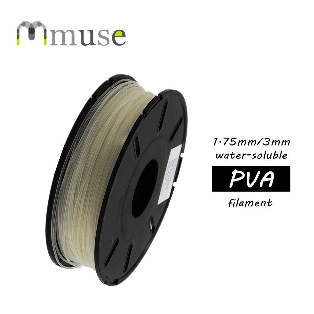 0.5kg Spool 1.75mm/3mm Water-Soluble PVA Filament For 3D Printer ppyy new 2pcs high quality 3mm white pva dissolvable 3d printer filament 60m 0 5kg 1 1lbs 30 60mm s include spool and leathe