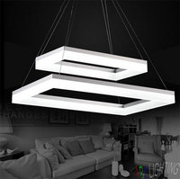 Modern 2 Rectangle LED Pendant Lights for Dining Room Acrylic LED Pendant Lamp Lustres LED Lamparas de techo Lighting luz