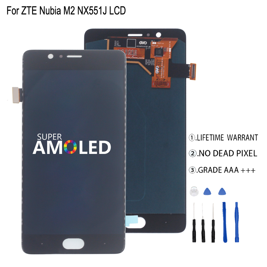 Amoled For ZTE Nubia M2 NX551J LCD Display Touch Screen Digitizer For ZTE Nubia M2 Display Assembly Phone Parts Screen LCDAmoled For ZTE Nubia M2 NX551J LCD Display Touch Screen Digitizer For ZTE Nubia M2 Display Assembly Phone Parts Screen LCD