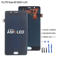 Amoled For ZTE Nubia M2 NX551J LCD Display Touch Screen Digitizer For ZTE Nubia M2 Display Assembly Phone Parts Screen LCD