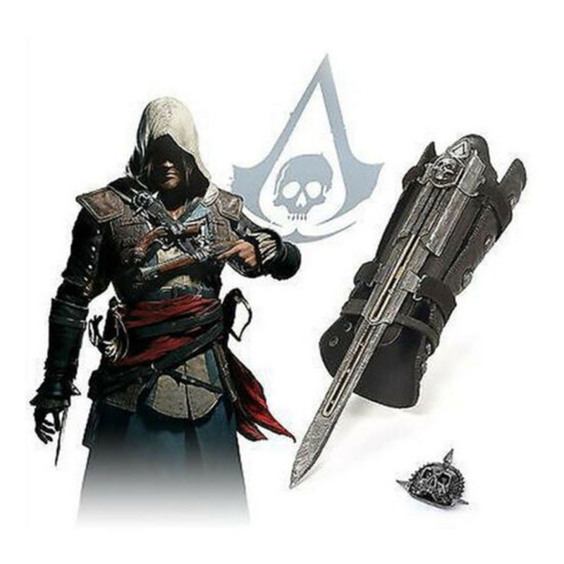 Assassins Creed Hidden Blade Sleeve Sword Figure Hidden Blade Edward Weapons Sleeves Swords Can The Ejection Cosplay Tools