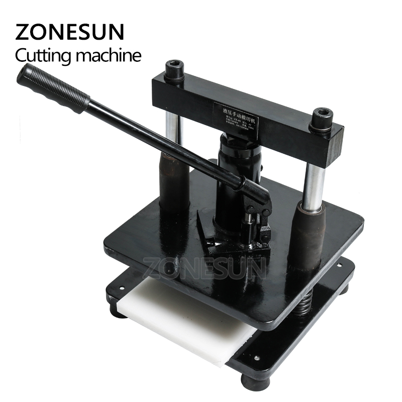 ZONESUN leather Hydraulic manual die cutting machine photo paper PVC/EVA sheet mold cutter cutting die for DIY papercraft - 5