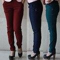 Весна и Осень Стиль леггинсы женщины брюки плюс размер 6XL Карманы Корейской версии футов Высотой талии брюки женские