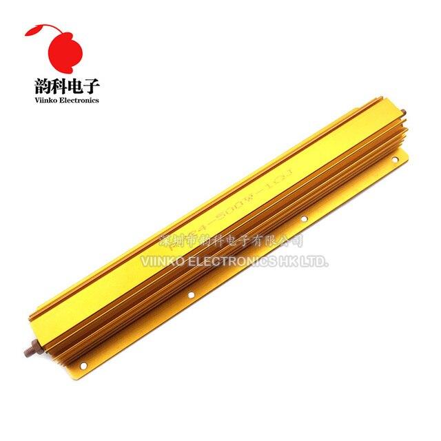 500W Aluminium Power Metal Shell Fall Draht Widerstand 0,1 R ~ 500R 0,1 0,5 1 2 4 5 8 10 50 100 500 ohm