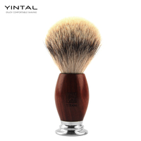 Men Shaving Brush Hand made Badger Silvertip Brushes Pincel De Barbear Aluminum Handle Brocha De Afeitar Badger Hair Knot