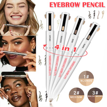 4 in 1 eyebrow contour pen clear highlight eyebrows thrush tattoo pencil waterproof natural makeup