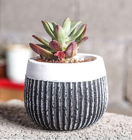 Силиконовые формы 3d цементная ваза мульти мясо плантатор современный стиль мульти цветочные горшки керамические вертикальные полосы плес