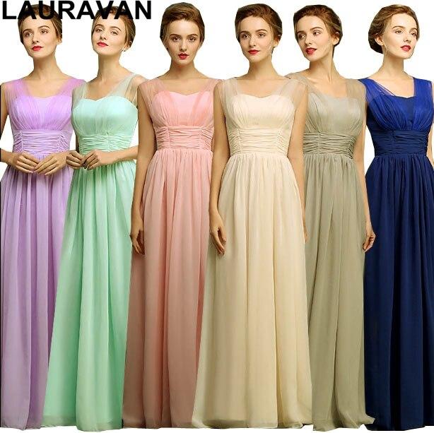 robe de soiree ladies two straps long elegant champagne blue chiffon bridesmaid  dress special occasion dresses 614e57bf284d