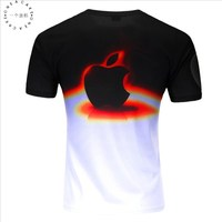 ONE A CAKE 2017 New Fashion Brand Men S 3 D Apple Printed T Shirts Men