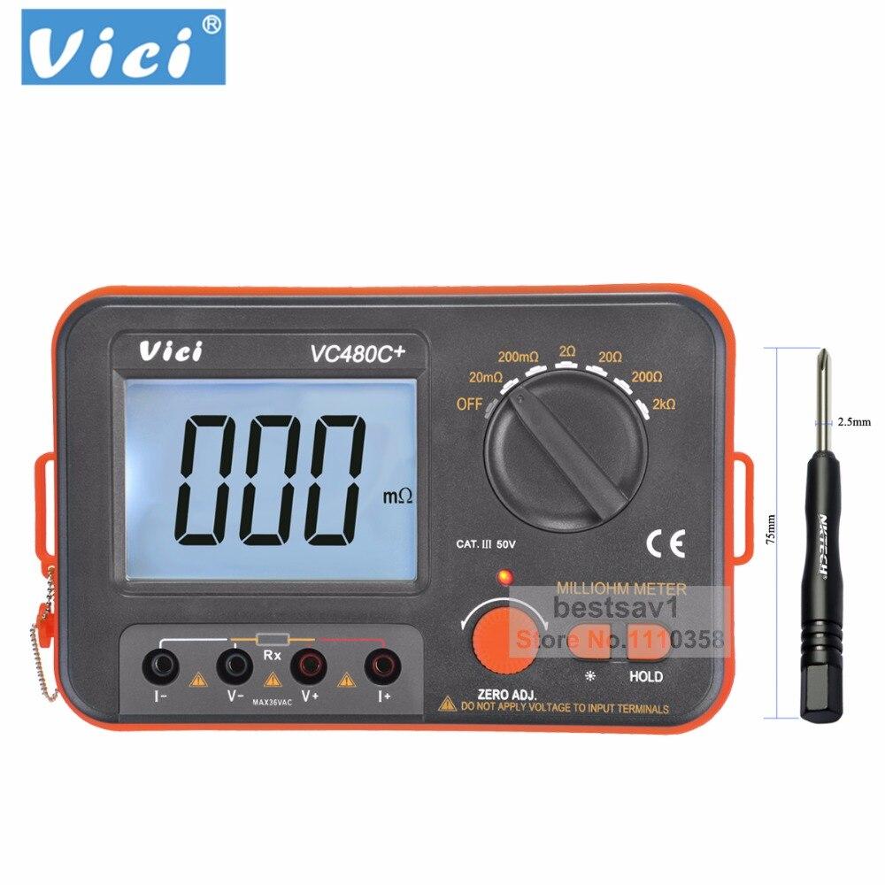 VICHY VC480C + multimetro multimetro diagnostico-strumento tester 3 1/2 Digital Milli-ohm Meter Multimetro Con 4 Fili Test B0243VICHY VC480C + multimetro multimetro diagnostico-strumento tester 3 1/2 Digital Milli-ohm Meter Multimetro Con 4 Fili Test B0243