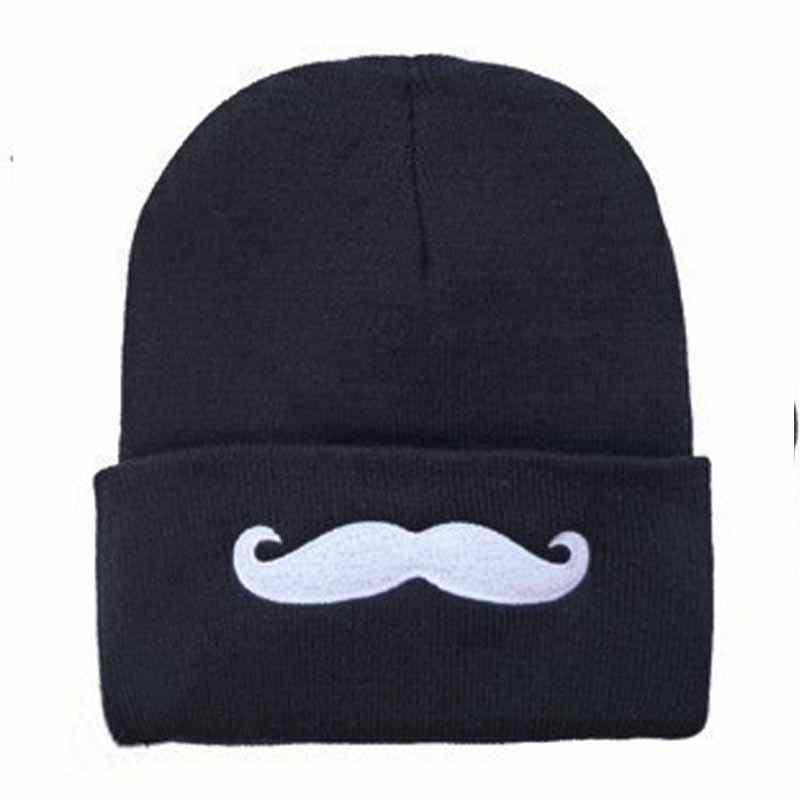 4b5f38960 Hat brand Beard Moustache embroidery Winter Hats men's Beanies Turban  cotton Knitted cap women's hats Men caps Beanie Bonnet