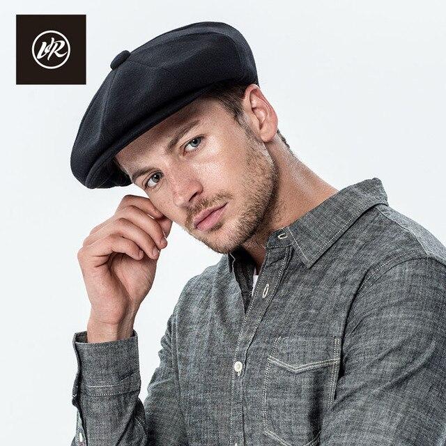 VIS ROCK Fashion Octagonal Cap Newsboy Beret Hat Autumn And Winter Hats For  Men s Branded Woolen Solid Flat Caps Gentleman 91aa99ac1ac4