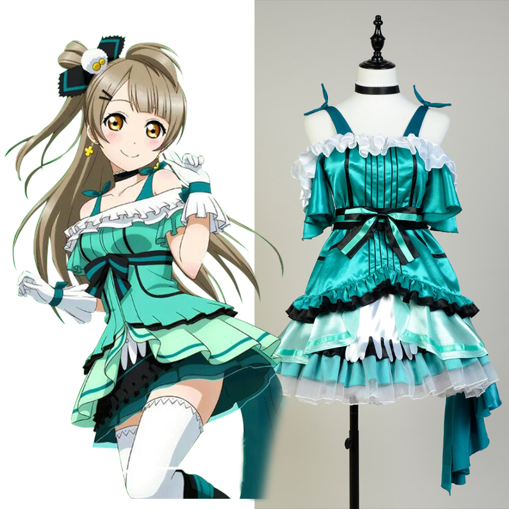 Love Live! Love Live!Cosplay Kira Kira Sensation Kotori Minami Costume Full Sets Halloween Party Cosplay Green Costume