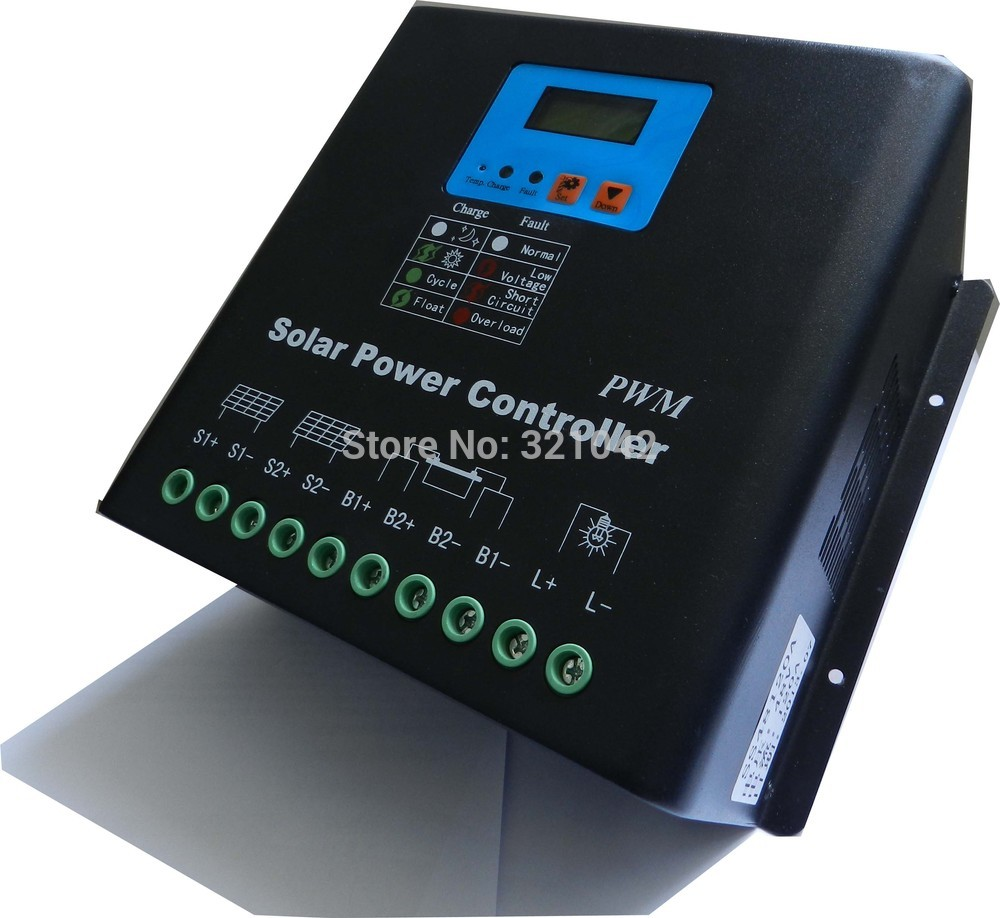 LCD 60A Solar Charge Controller 12V 24V auto Battery Charge Controller Home system indoor use