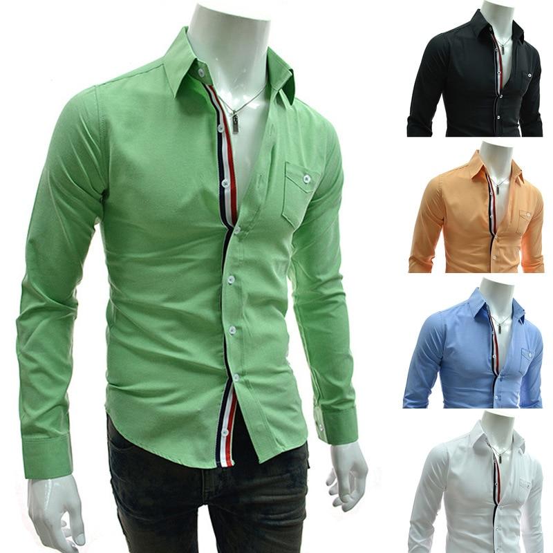 new design fashion mens casual shirt loose comfortable camisa ...