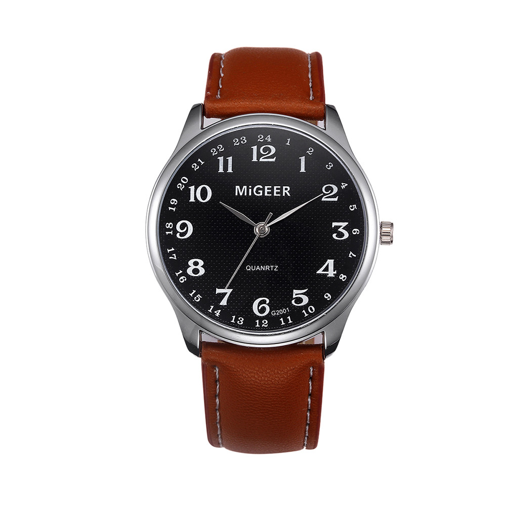 Fashion Mens Watches Blue Ray Men Wrist Watch 2019 Mens Watches Top Brand Casual Leather Wrist Leather Strap Watch Clock 0611