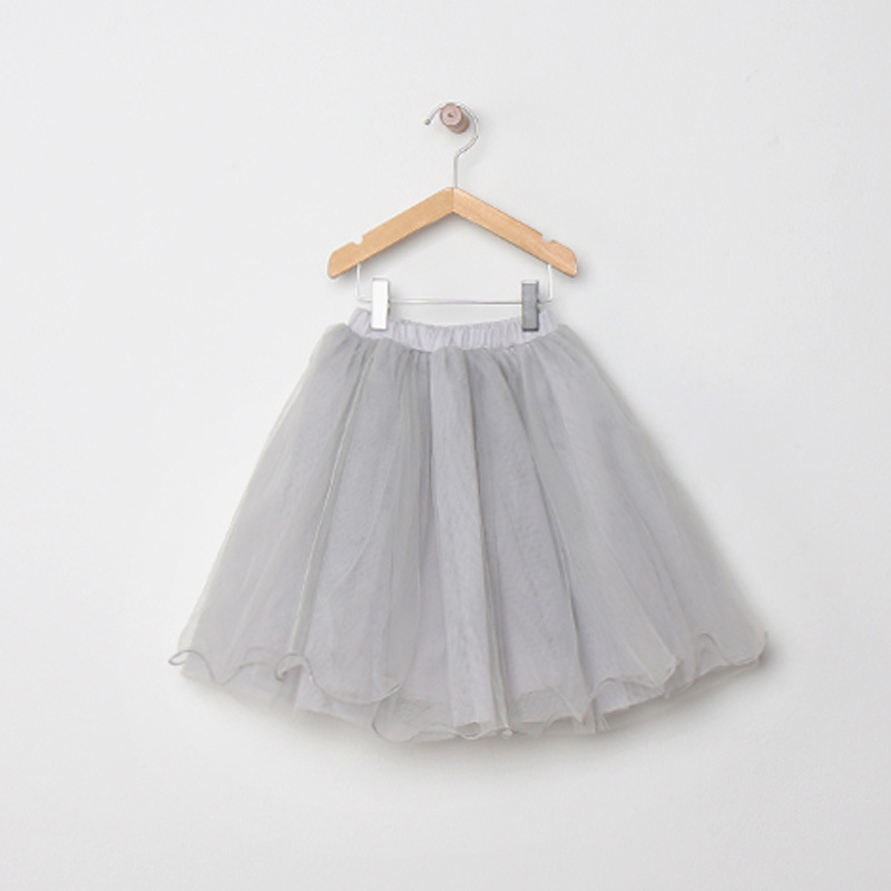 2017-New-Arrival-Childrens-Clothing-Child-Princess-Little-Girls-Casual-Tutu-Puff-Mid-Calf-Long-Kids-Skirt-Age-2-10-Beige-Grey-3