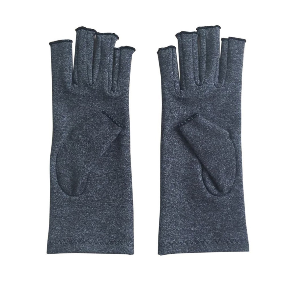 A Pair Therapy Compression Gloves Comfortable Men Women Solid Color Breathable Arthritis Joint Pain Relief Gloves