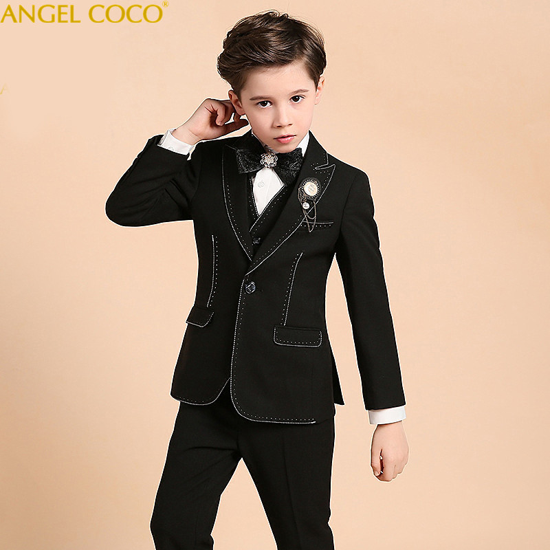 Boys suits for weddings Prom Suits Wedding Dress for Boys Kids tuexdo Children Clothing Set Blazers for Boys Costume Garcon 2018