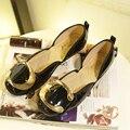 Бесплатная доставка 2016 мода новые женские плоские туфли Европейских и Американских женщин большого размера обувь Горох (35-42 ярдов)