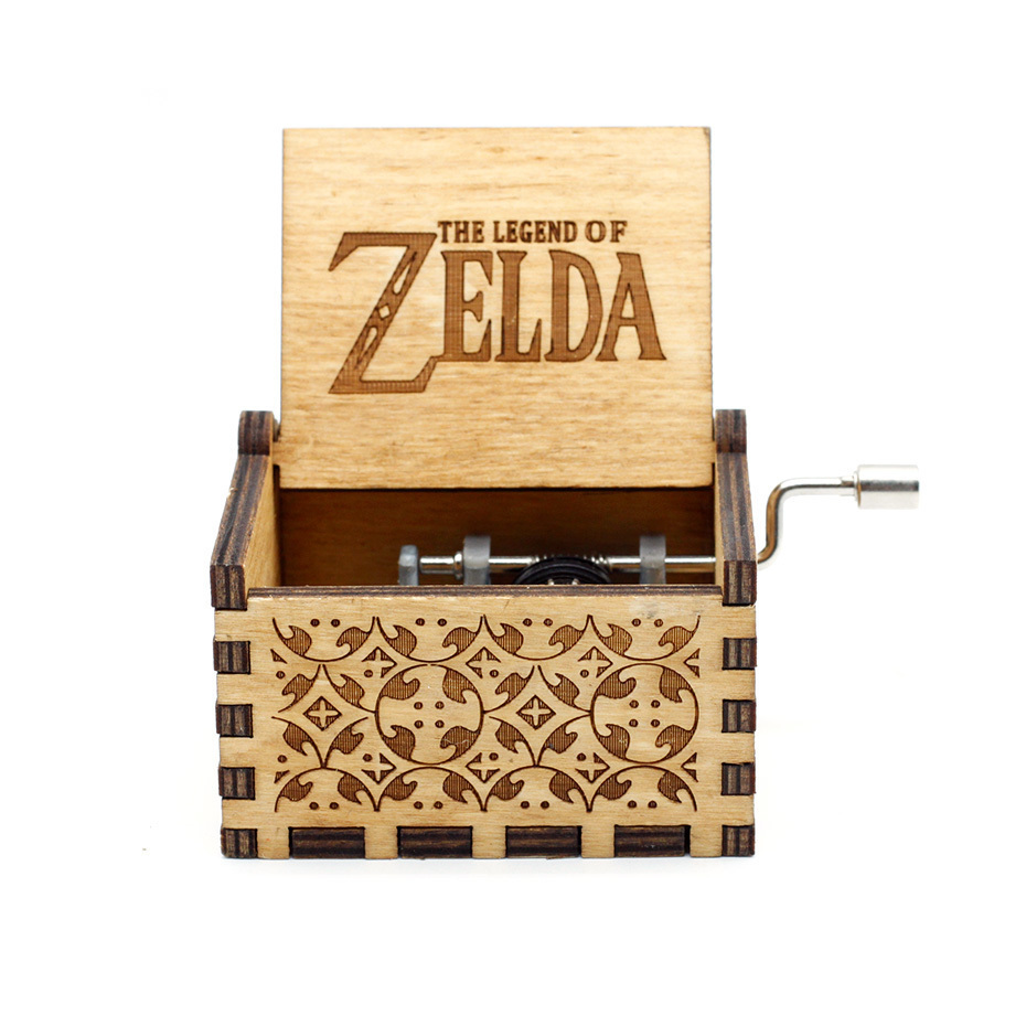 New Carved Queen Music Box Star Wars Game of Throne Castle In The Sky Hand Cranked Wood Music Box Christmas Gift - Цвет: Zelda