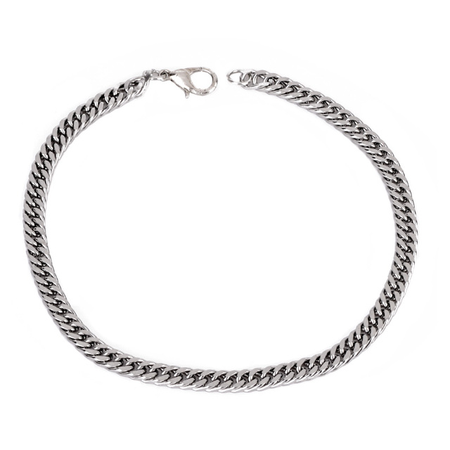 1 PC Hot Alloy Jewelry Curb Link Chain Silver Bracelet & Bangle For Men Charm Br