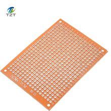 100個5*7 pcb 5 × 7 pcb 5センチメートル7センチメートルdiyプロトタイプ紙pcbユニバーサルボード黄色