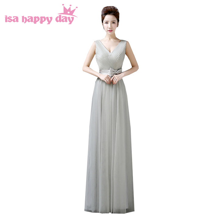 special occasion formal elegant puffy tulle teen gray prom party pageant dresses for women long grey dress ball gowns 2020 W2690