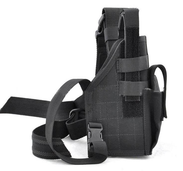 High Quality 1000D Adjustable Black Outdoor Hunting Waterproof Military Tactical Puttee Thigh Leg Pistol Gun Holster