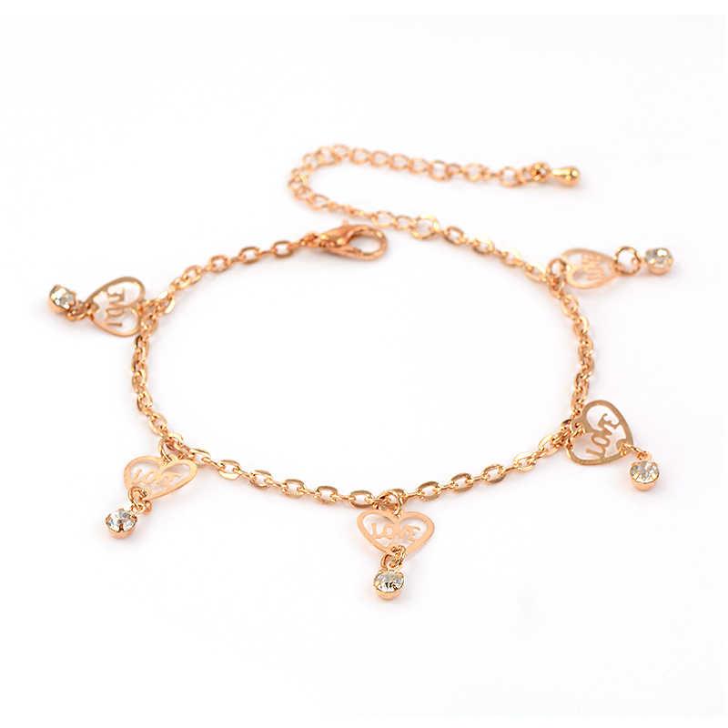 H: hído 11 estilo promoción nuevo encanto tobilleras de Color dorado para mujer pulsera de tobillo cadena joyería de pie de alta calidad