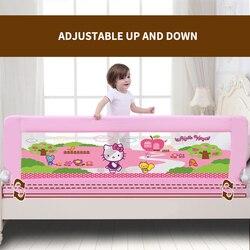 Carril de cama de bebé de calidad fácil de doblar uso duradero color rosa y azul uso general 120cm 150cm 180cm y 200cm
