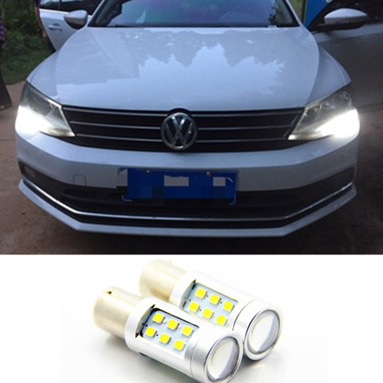 СИД DRL вождения дневного день противотуманной фары свет для VW Джетта МК6 Сагитар 2011-2013