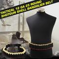 Тактический 25 Shotgun Shell Патронташ Пояса 12 Калибр Патронов Держатель 140*5 СМ Открытый Airsoft Охотничье Ружье Патронташ @