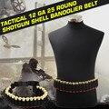 Tactical 25 Shotgun Shell Bandolier Belt 12 Gauge Ammo Holder 140*5CM Outdoor Airsoft Hunting Shotgun Cartridge Belt@