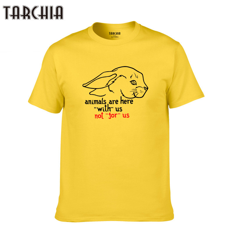 TARCHIA 2019 Tops Casual T Shirt Men new Cotton animals are here Slim Fit T shirt Homme sleeve Top Spring Print Men fshion Tees