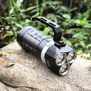 Image 5 - Sofirn SD01 צלילה פנס 3 * Cree XPL 3000LM LED אור מתחת למים זרקור 18650 עוצמה צלילה אור LED פנס
