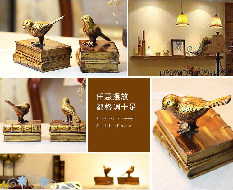 13 14CM Retro bird animal mannequin body home crafts decorations ornaments Wedding clothing store Resin 2PC LOT A164 in Mannequins from Home Garden