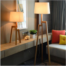 Wood Floor Lamp E26 / E27 Socket Table lamp Hotel Bedside Lamp Living Room Decoration Modern Floor Lamp 110V 220V(China)