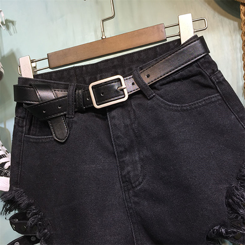 2019 summer new fashion loose black wide leg high waist denim shorts sexy hot jeans shorts YH110 in Shorts from Women 39 s Clothing