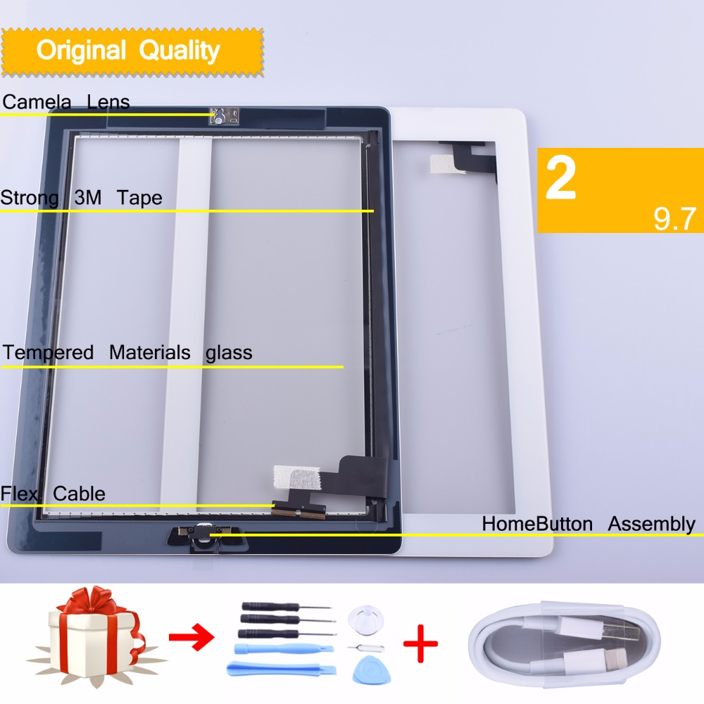 original for apple iPad 2 3 4 5 6 Touch Screen Digitizer with Home Button Front Glass Touch Panel for ipad Air 1 2 touch panel netcosy touch screen digitizer front touch panel glass for ipad 2 3 4 touchscreen replacement spare part tp repair tools glue