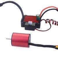 Waterproof 2430 5800KV Brushless Motor + 25A ESC Set for 1/18 1/16 RC Car FOR high torque motor CAR A611