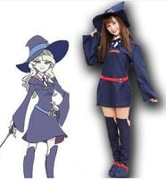 Phù Thủy nhỏ Học Viện Cosplay Costume Kagari Atsuko Sucy Manbavaran Halloween Dress Hat