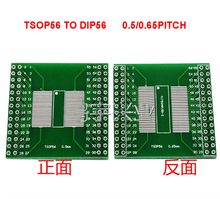 Free shipping 5pc TSOP56 TSOP48 to DIP56 Adapter PCB Board for AM29 series IC 0.5mm 0.65mm pitch transfer board