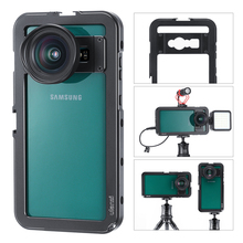 ULANZI Aluminum Video Cage for Samsung S10 Plus Protective Smartphone Vlog Frame Housing Microphone LED Light