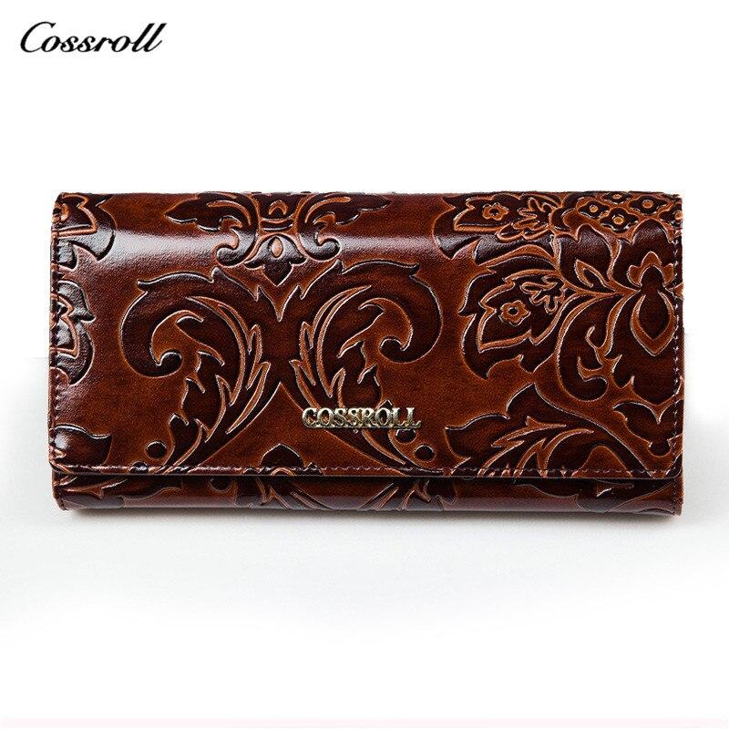 Genuine Leather Red Wallet Crocodile Women Multifunction Women's Purse Carteira Feminina Billetera Ladies Magic Wallets Card