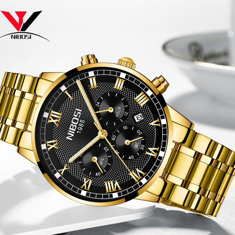 Image 4 - Relogio Masculino NIBOSI Mens Watches Top Brand Luxury Waterproof Stainless Steel Male Clock Dress Famous Business Watch Men2018-in Quartz Watches from Watches