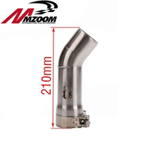 Free shipping 51mm Muffler Exhaust Slip On Centrifugal Pipe Connector Connecting Pipe Tube For Yamaha FZ8 FZ800